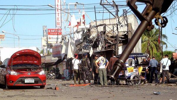 Filipinler'de patlama - Sputnik Türkiye
