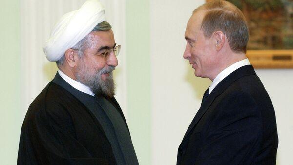 İran Cumhurbaşkanı Hasan Ruhani, Rusya Devlet Başkanı Vladimir Putin - Sputnik Türkiye