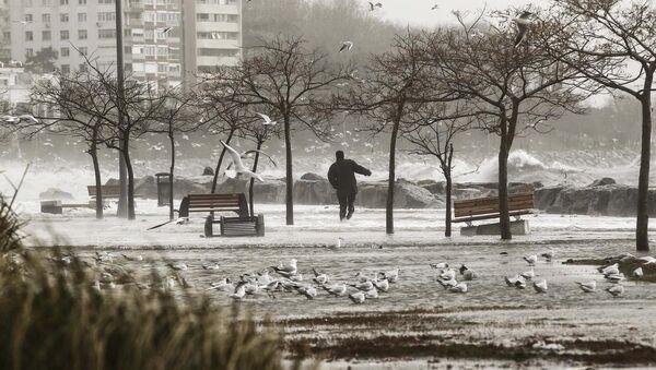 Şiddetli lodos İstanbul'u esir aldı - Sputnik Türkiye