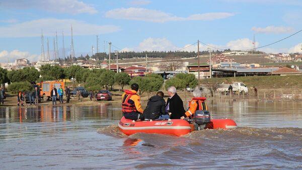 Edirne'de nehirler taştı - Sputnik Türkiye