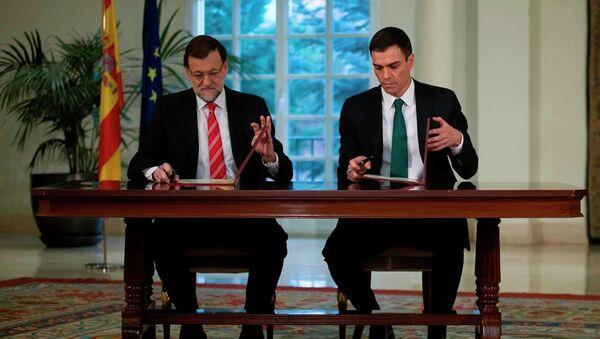 İspanya Başbakanı Mariano Rajoy-PSOE lideri Pedro Sanchez - Sputnik Türkiye