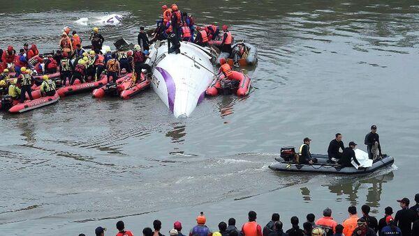 Tayvan'da uçak kazası - Sputnik Türkiye