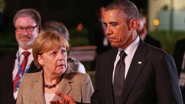 Angela Merkel-Barack Obama - Sputnik Türkiye