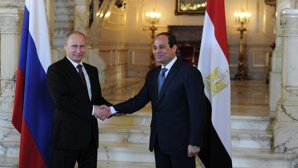 Rusya Devlet Başkanı Vladimir Putin, Mısır Devlet Başkanı Abdülfettah el Sisi - Sputnik Türkiye