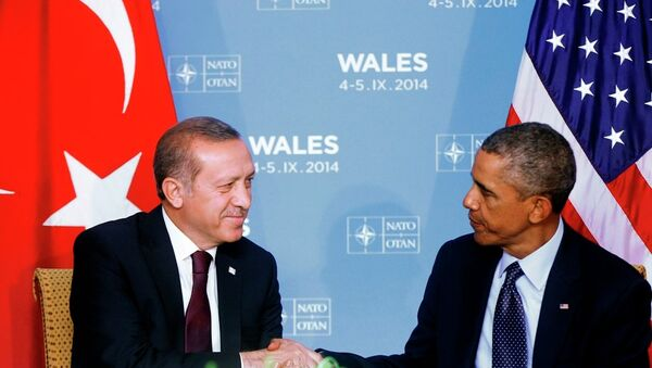 Türkiye Cumhurbaşkanı Recep Tayyip Erdoğan ve ABD Başkanı Barack Obama - Sputnik Türkiye