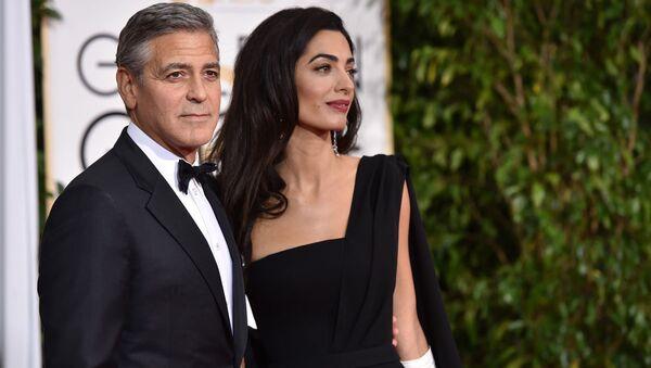 George Clooney ve Amal Alamuddin Clooney - Sputnik Türkiye