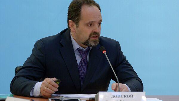 Rusya Tabii Kaynaklar ve Ekoloji Bakanı Sergey Donskoy - Sputnik Türkiye