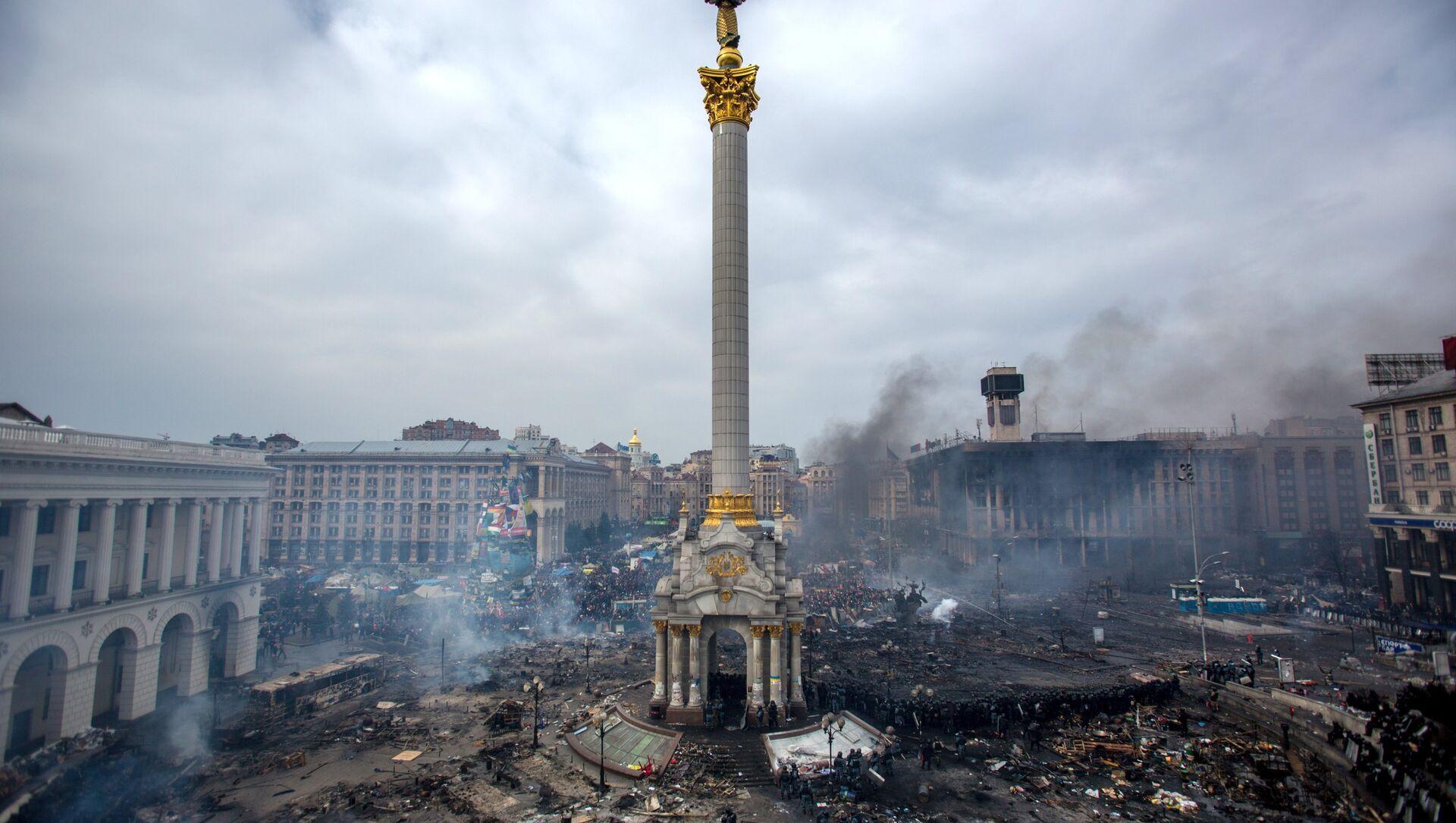 Ukrayna'nın başkenti Kiev'deki Maydan protestoları - Sputnik Türkiye, 1920, 01.05.2021