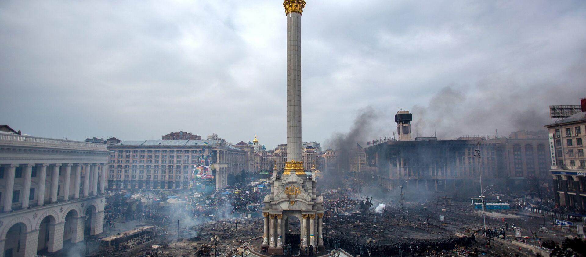 Ukrayna'nın başkenti Kiev'deki Maydan protestoları - Sputnik Türkiye, 1920, 14.02.2018