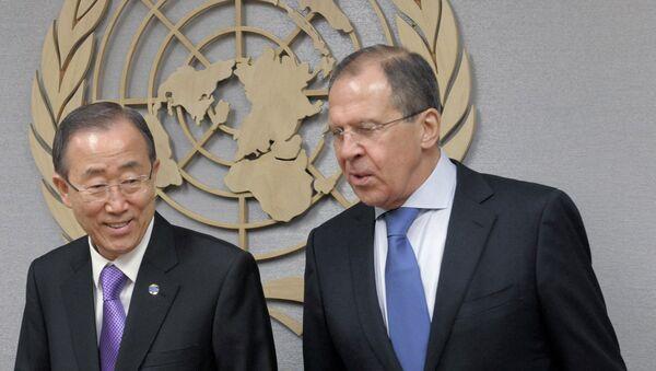 Sergey Lavrov - Ban Ki-mun - Sputnik Türkiye