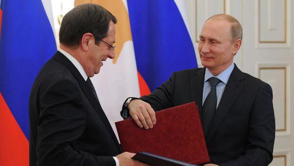Rusya Devlet Başkanı Vladimir Putin - Güney Kıbrıs Rum yönetimi lideri Nikos Anastasiadis - Sputnik Türkiye
