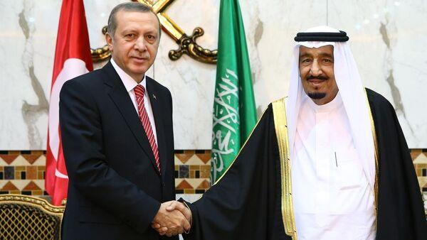 Recep Tayyip Erdoğan & Selman bin Abdülaziz - Sputnik Türkiye