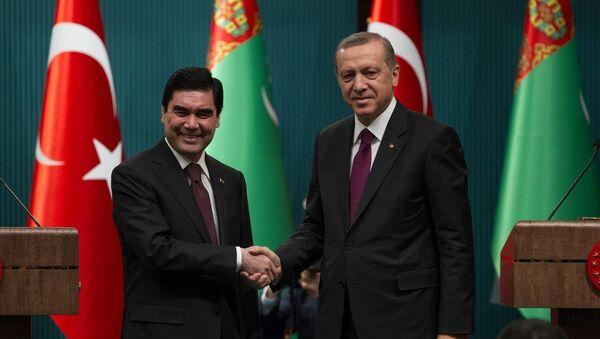 Recep Tayyip Erdoğan & Gurbanguli Berdimuhamedov - Sputnik Türkiye