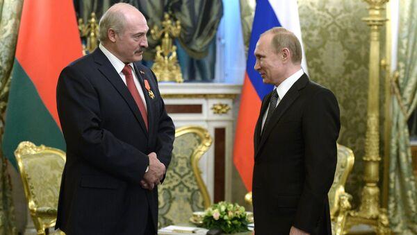 Putin ile Lukaşenko - Sputnik Türkiye