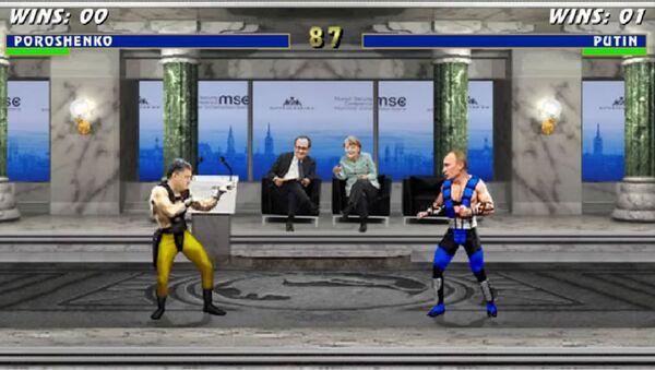 Mortal Kombat Ukrayna versiyonu: Poroşenko vs Putin - Sputnik Türkiye