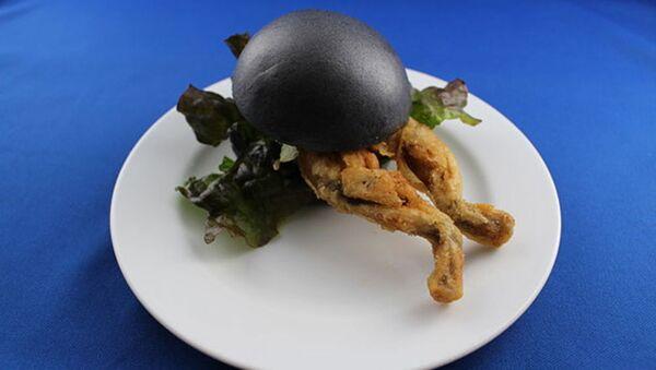 Kurbağalı hamburger - Sputnik Türkiye