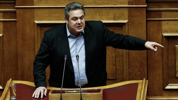 Yunanistan Savunma Bakanı Panos Kammenos - Sputnik Türkiye