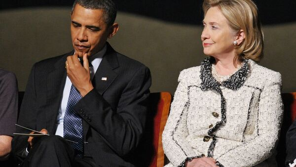 ABD Başkanı Barack Obama - Eski Dışişleri Bakanı Hillary Clinton - Sputnik Türkiye
