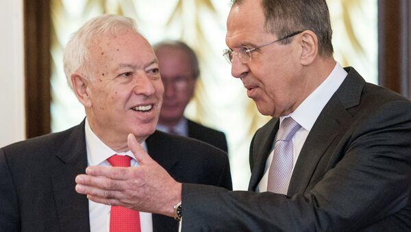 Rusya Dışişleri Bakanı Sergey Lavrov ve İspanya Dışişleri Bakanı Jose Manuel Garcia Margallo - Sputnik Türkiye