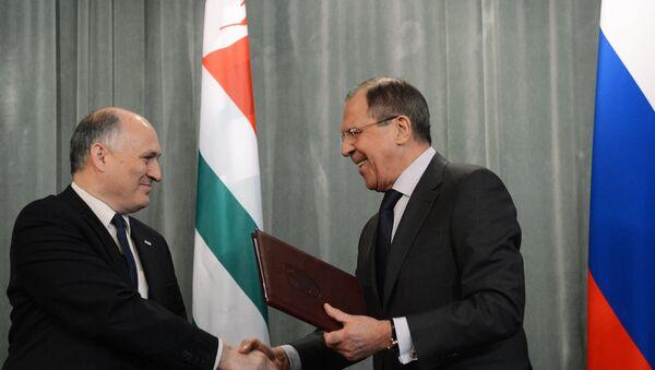 Sergey Lavrov & Viyaçeslav Çirikba - Sputnik Türkiye