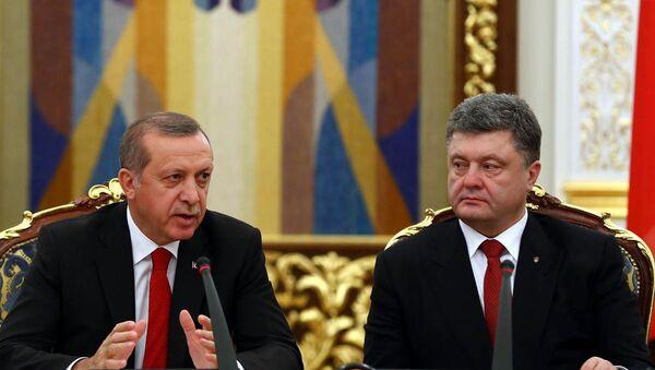 Recep Tayyip Erdoğan & Pyotr Poroşenko - Sputnik Türkiye