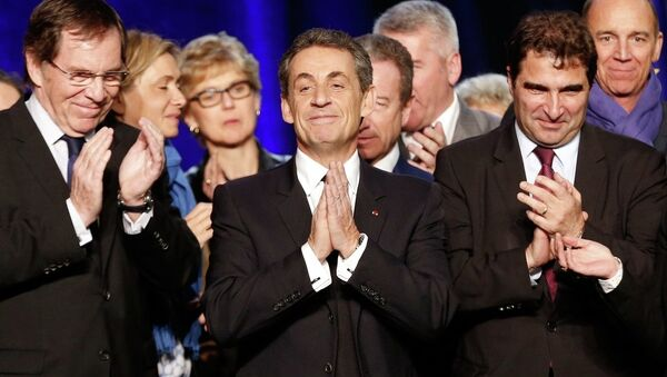 Fransa'da UMP lideri Nicholas Sarkozy - Sputnik Türkiye