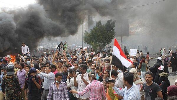 Yemen Husi karşıtı gösteriler - Sputnik Türkiye