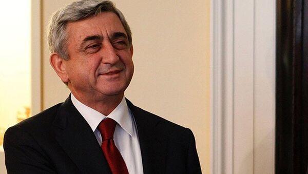 Ermenistan Cumhurbaşkanı Serj Sarkisyan - Sputnik Türkiye