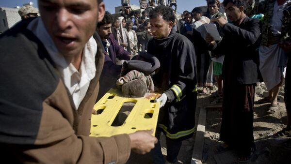 Yemen'deki bombardımanda sivil yerleşim birimleri de hedef oldu - Sputnik Türkiye