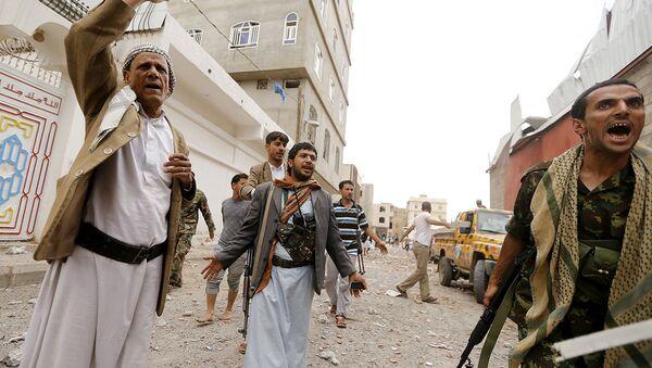 Hava saldırılarının ardından Yemen - Sputnik Türkiye