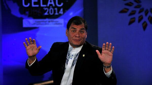 Ekvador Devlet Başkanı Rafael Correa  - Sputnik Türkiye