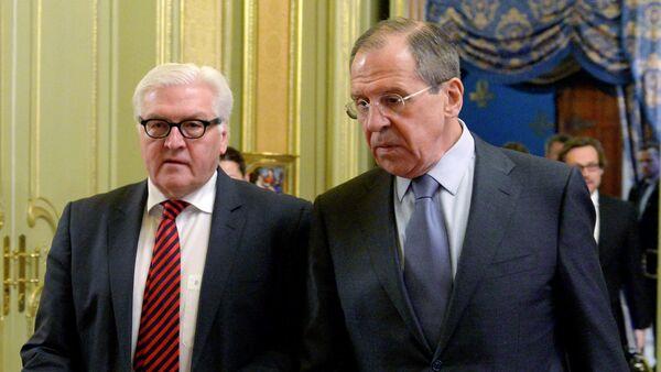 Sergey Lavrov & Frank-Walter Steinmeier - Sputnik Türkiye