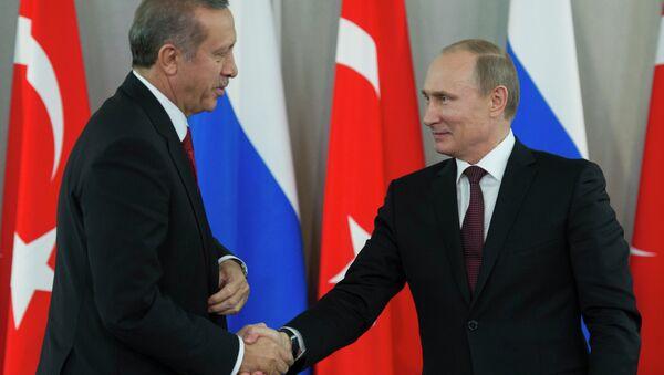 Vladimir Putin & Recep Tayyip Erdoğan - Sputnik Türkiye