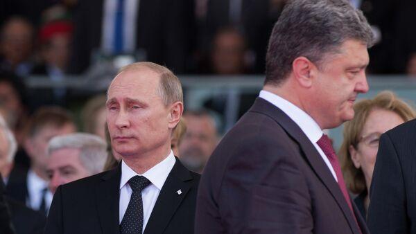 Vladimir Putin & Pyotr Poroşenko - Sputnik Türkiye