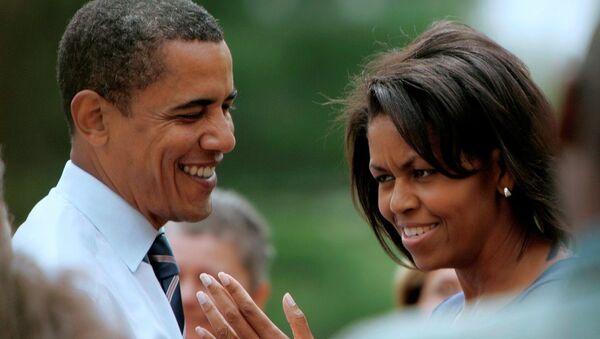 Barack Obama ve Michelle Obama - Sputnik Türkiye