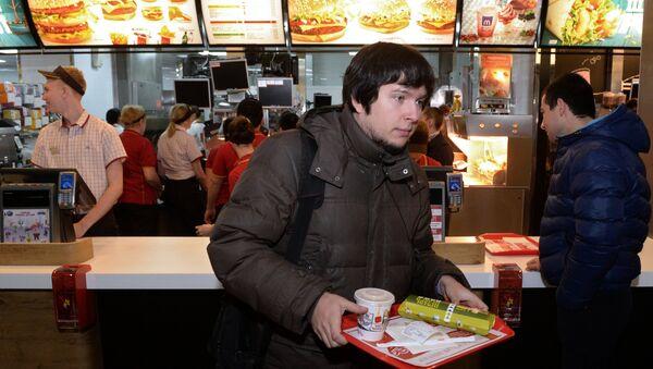 Rusya'da bir McDonald's restoranı - Sputnik Türkiye