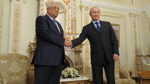 Vladimir Putin & Mahmud Abbas - Sputnik Türkiye
