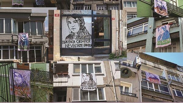 Kadınlar şiddete karşı çarşaf açtı - Sputnik Türkiye