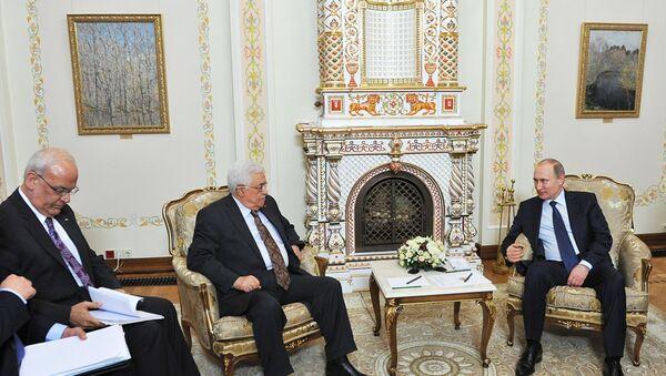 Vladimir Putin- Mahmud Abbas - Sputnik Türkiye