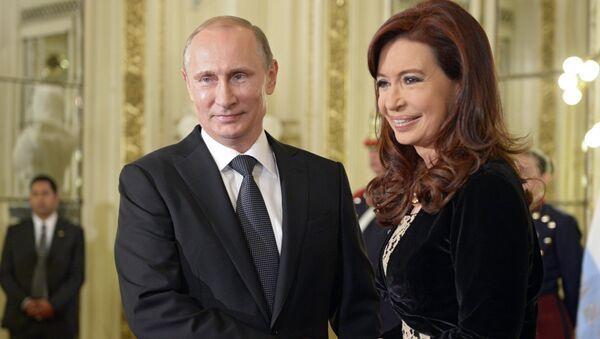Christina Fernandez de Kirchner & Vladimir Putin - Sputnik Türkiye