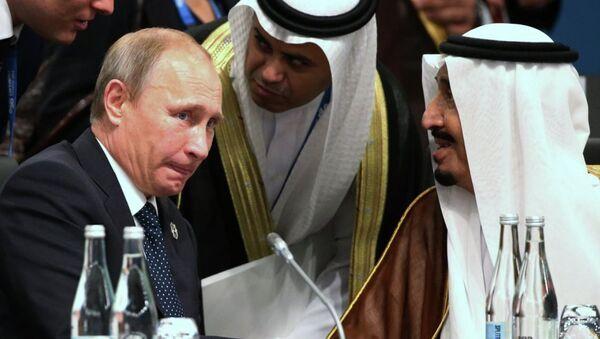 Suudi Arabistan Kralı Selman Bin Abdulaziz el-Suud - Rusya Devlet Başkanı Vladimir Putin - Sputnik Türkiye