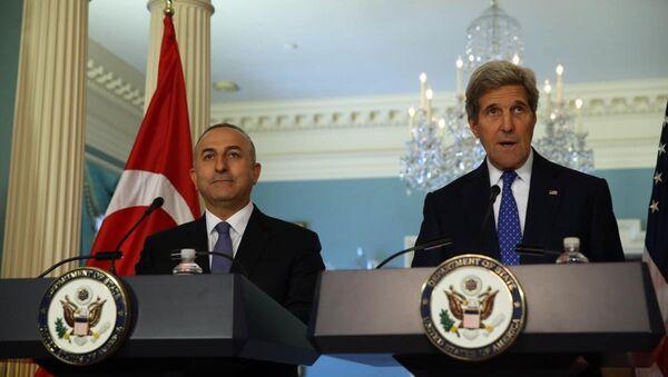 Mevlüt Çavuşoğlu - John Kerry - Sputnik Türkiye