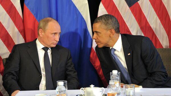 Rusya Devlet Başkanı Vladimir Putin ve ABD Başkanı Barack Obama - Sputnik Türkiye