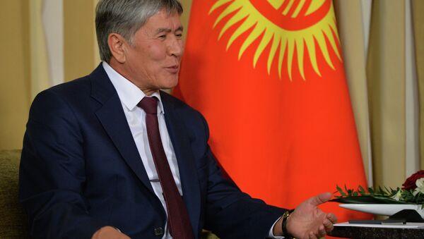 Kırgızistan Devlet Başkanı Almazbek Atambayev - Sputnik Türkiye
