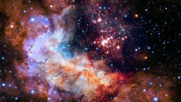 NASA, Hubble'ın 25'inci yılı anısına Westerlund 2 adı verilen yıldız kümesinin görüntülerini yayımladı. - Sputnik Türkiye