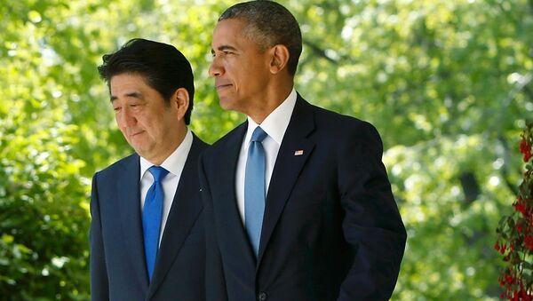 Barack Obama & Şinzo Abe - Sputnik Türkiye