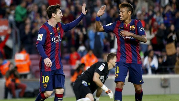 Barcelona oyuncuları Messi ve Neymar - Sputnik Türkiye