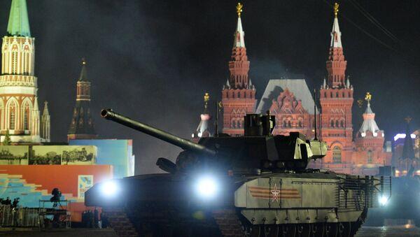 T-14 Armata tankları, Moskova'daki 'Zafer Günü' provalarında - Sputnik Türkiye