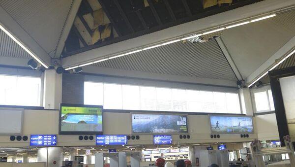 Atatürk Havalimanı'nda asma tavan çöktü - Sputnik Türkiye