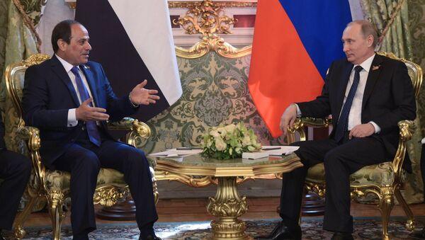 Mısır Cumhurbaşkanı Abdulfettah Sisi- Rusya lideri Vladimir Putin - Sputnik Türkiye
